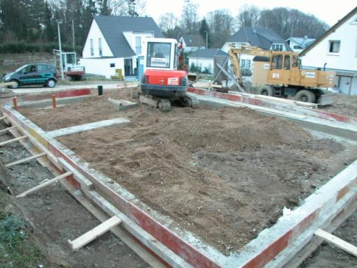 Haus bauen baustelle  Aufderhöher Berg