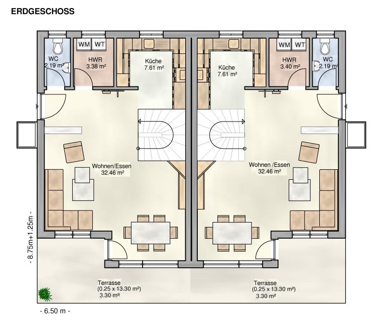 Moderne doppelhäuser grundrisse  Kowalski Haus Lana-Minerva 125