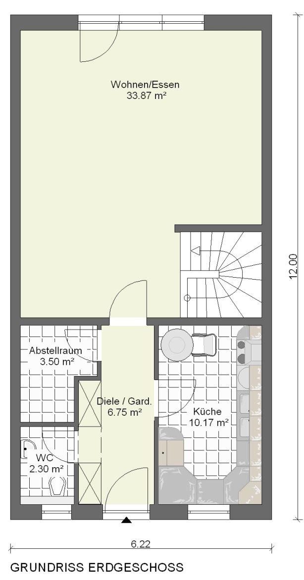kowalski haus reihenhaus alessa 112. Black Bedroom Furniture Sets. Home Design Ideas