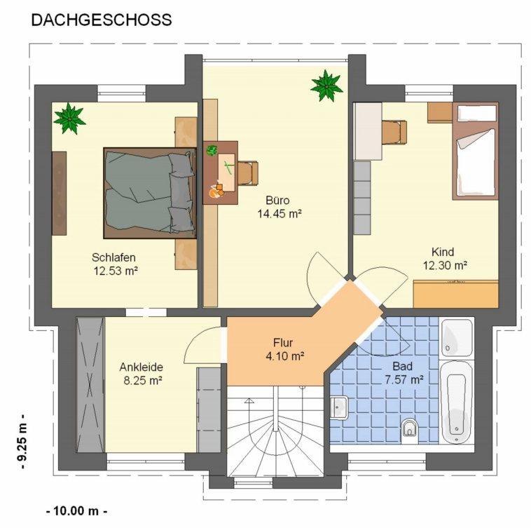 Bad Grundrisse Dachgeschoss : Badezimmer Grundriss Dachgeschoss  Villa Grundrisse Haus Stadtvilla